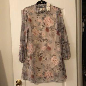 NWT! Miss Selfridge Floral Ruffle Sleeve Dress